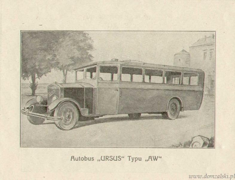 Reklama autobusu Ursus. Z archiwum ZM Ursus.