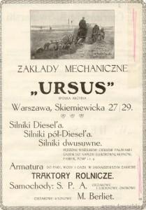 """""""Maszyny Rolnicze"""" 1925 rok. Z archiwum ZM Ursus."""